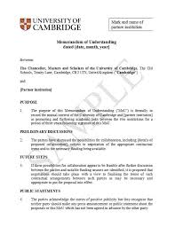 Memorandum Of Understanding Template Custom 44 Free Memorandum Of Understanding Templates [Word] Template Lab