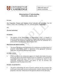 Sample Of Memoranda 50 Free Memorandum Of Understanding Templates Word