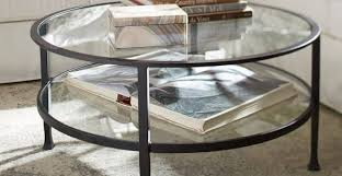 circular glass coffee table best of tanner round coffee table bronze finish