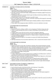 Customer Service Engineer Resume Samples Velvet Jobs