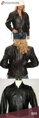 interstate leather women s motorcycle jacket