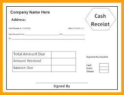 Free Cash Receipt Template Sample Word Doc Money Wording
