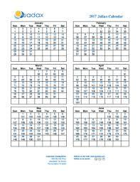 Fillable Online Julian Calendar 2017 Quadax Fax Email
