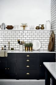 Black And White Kitchen Black And White Bathroom Decor White Tile ...