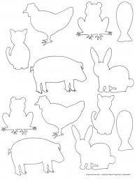 Free Printable Farm Animal Silhouette Templates Fun For Kids To