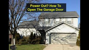 how to manually open a garage doorNo power how to open your garage door manually  VOTD  YouTube