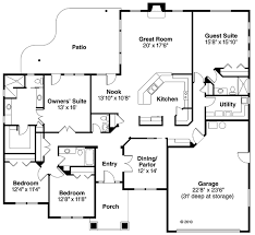 florida house plans. Contemporary Florida Mediterranean Ranch House Plan 59431 Level One Plans G