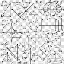 Math Formula Chart For Geometry Mathematical Equations Illustration Mathematics Formula