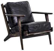 landon mid century modern brooks leather lounge chair midcentury armchairs and accent chairs by zin home