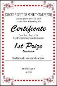Award Certificate Templates Prize Template Raffle Onbo Tenan