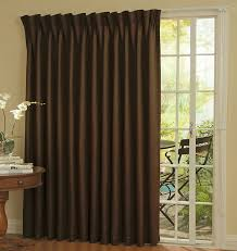 Image of: Sliding Door Curtains Length