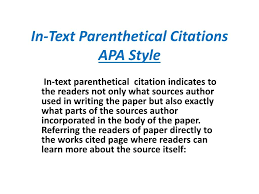 Ppt In Text Parenthetical Citations Apa Style Powerpoint