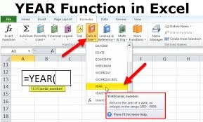 Year Function In Excel Formula Examples How To Use Year