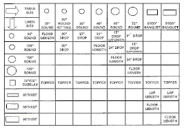 Tablecloth Sizes Size Calculator Chart Oval New Oblong Round