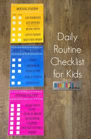 Daily Routine Checklist For Kids Kids Schedule After