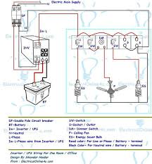 7 best wiring images on pinterest bulbs, electrical projects and 8 Wire Outlet Diagram ups & inverter wiring diagram for one room office ~ electrical online electrical tutorials Electrical Outlet Wiring Diagram
