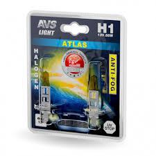 Галогенная <b>лампа AVS</b> /<b>ATLAS ANTI-FOG</b>/желтый H1.12V.55W.2шт.