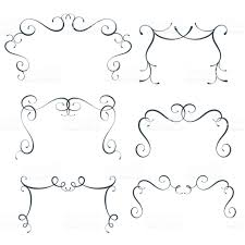 vector flourish frames set scroll border collection curl decoration elements gm soidergi