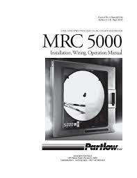Partlow Mrc 5000 Circular Chart Recorder Mrc5000 Manual Jackson Oven Supply Inc