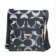 Discount Coach Stud In Signature Small Black Crossbody Bags Dqa Outlet 90UGm