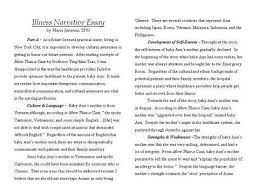 examples of personal narrative essays  samples narrative essay by theydont