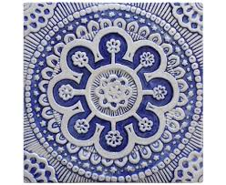 wall hanging with suzani design outdoor wall art ceramic wall art decorative tile