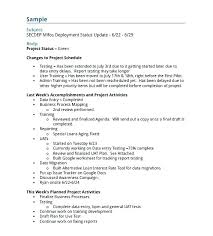 Sample Weekly Project Status Report Template Sttus Smple Sample ...