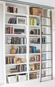 ikea billy bookcase with sliding ladder