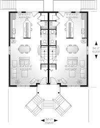 multi family house plan first floor 032d 0060 house planore
