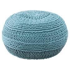 Rizzy Home Cable Knit Pouf Ottoman