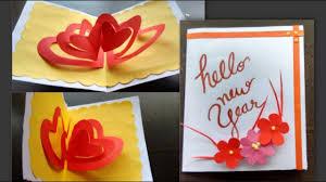 New Year Greeting Card Design Handmade Cards Youtube