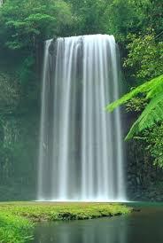 green waterfall wallpaper
