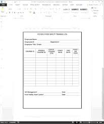 Staff Training Records Template Excel Staff Training Records