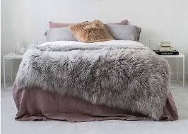 4 x 6 tibetan mongolian large rectangular sheepskin rug soft for bed covers