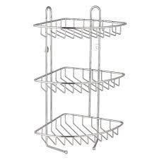 blue canyon 3 tier corner shower caddy stainless steel
