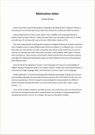 Example Letter About Study New Motivation Letter Erasmus Template