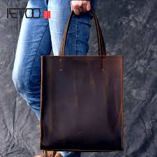 aetoo rclassic european and american style handmade leather tote bag men and women handbag large leather