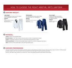 Century Martial Arts Uniform Size Chart Size Charts Guides Century Martial Arts Fitness