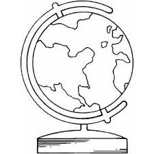 Small Picture Globe Coloring Sheet