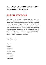 Forklift Dash Warning Lights Hyster D010 S25 35xm S40xms Forklift Parts Manual Download