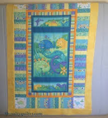 Panel | The Salty Quilter & A quilt top based on a dinosaur panel in progress. Adamdwight.com