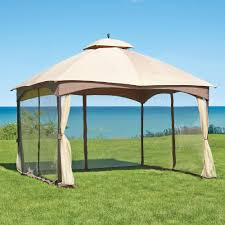 home depot green bay hampton bay massillon 10 ft x 12 ft double roof gazebo l gz933pst