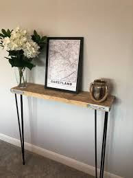 scaffold board console table made from