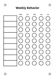 Weekly Behavior Chart Vinyl Only Custom Multi Child Weekly Behavior Chart For Ikea Kludd Messageboard