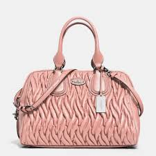 Lyst - Coach Gathered Leather Satchel in Pink