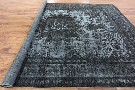 remarkable overdyed persian rugs stupendous black 10x13 hand knotted tabriz oriental wool