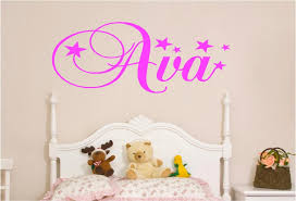 Small Picture PERSONALISED KIDS NAMES IN STARS VINYL WALL ART STICKER Custom