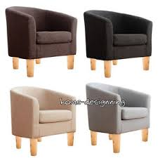 home office arm chair. Image Is Loading Single-Fabric-Soft-Tub-Chair-Armchair-Dining-Room- Home Office Arm Chair L