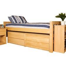 university loft graduate series twin xl bed natural finish  free