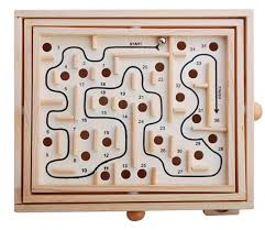 Wooden Maze Games Online Shop Primary Labyrinth Solitaire Game Wooden Toy Maze Board 41